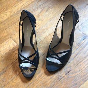 Nine West high heels peep toe size 6.5